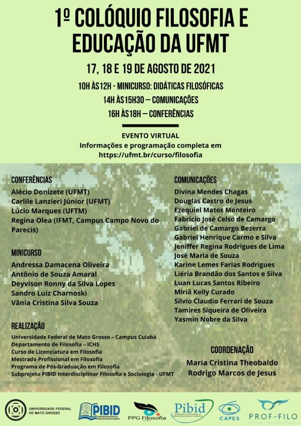 1º Colóquio de Filosofia e Educação da UFMT